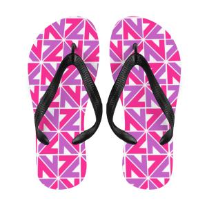 Jandals for Kids NZZN Pink Purple Flip Flops