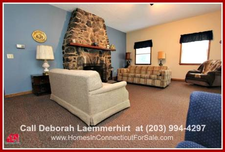 This Candlewood lake home for sale boasts of a cozy living room, where you can enjoy the warmth from the stunning fireplace.