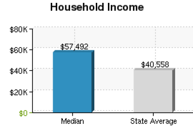 HOUSEHOLD INCOME GRAPH