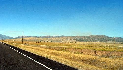 The countryside in Indianola Utah.