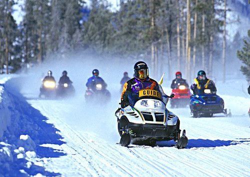 Activities like snowmobiling are popular in Sanpete