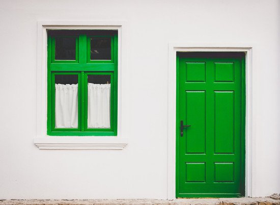Repainting the front door can add value to your home.