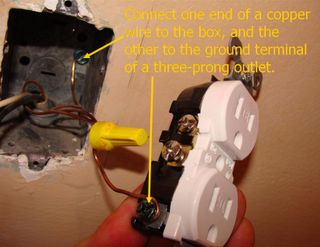 3 prong plug wiring diagram whirlpool oven converting two outlets grounding a three outlet to box