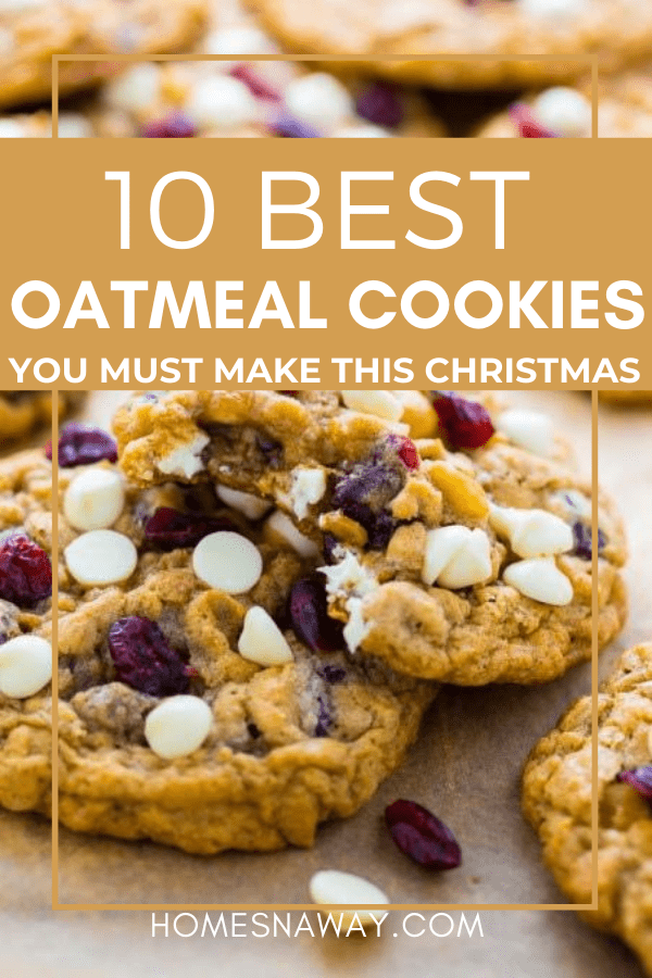 10 Yummy Oatmeal Cookies You Must Make This Christmas!
