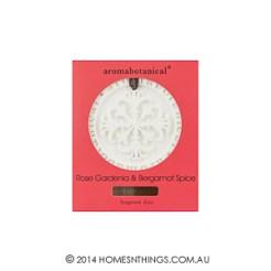Aromabotanical Fragrant Disc Rose Gardenia and Bergamot Spice300px
