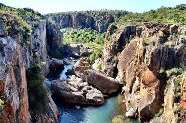Potholes in Zuid-Afrika