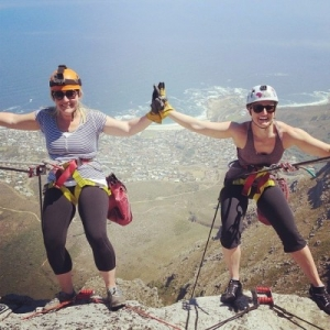 Abseilling from Table Mountain