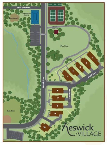 Keswick Village Chamblee GA Home Site Plan