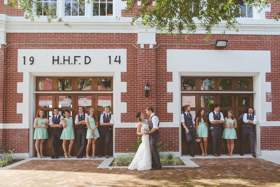 Meredith and Philip at Historic Fire station