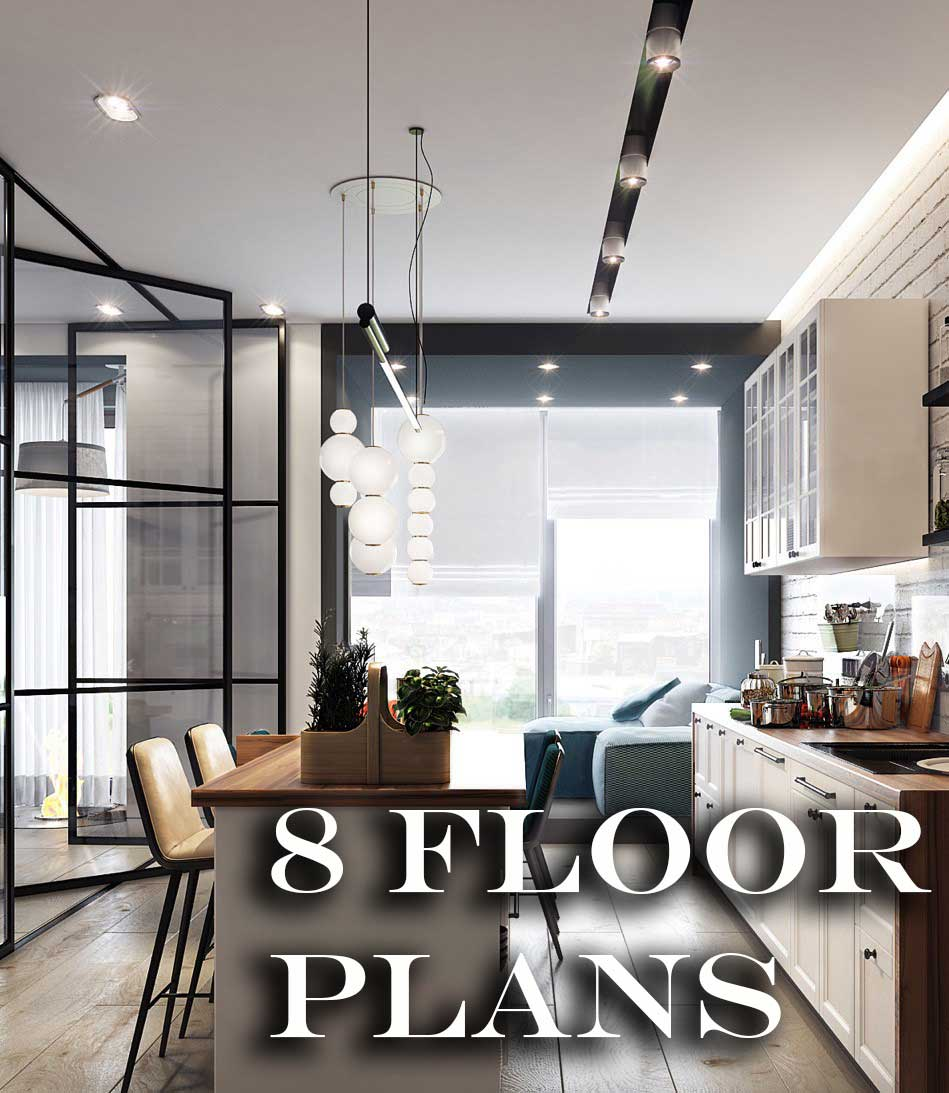 Houston Heights New Construction with 8 Different Floor Plans