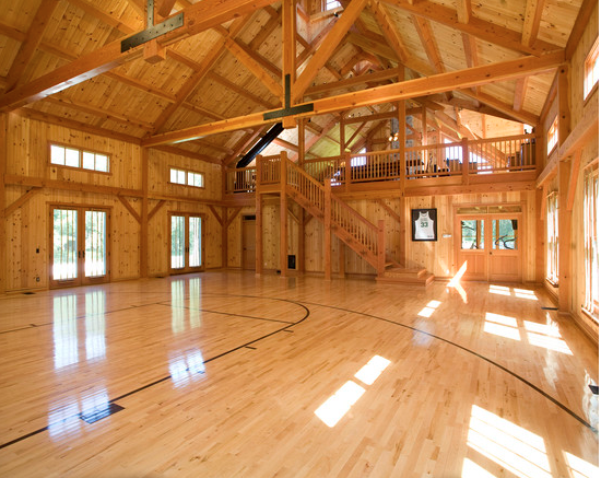 A Look At Some Private Indoor Basketball Courts From Houzzcom  Homes of the Rich