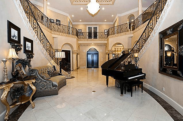 mediterranean living room l shaped 9,000 square foot mansion in lewisville, tx ...