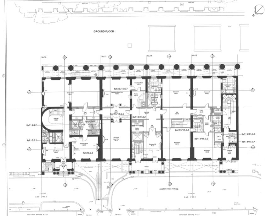 Floor Plans To 13-16 Carlton House Terrace In London