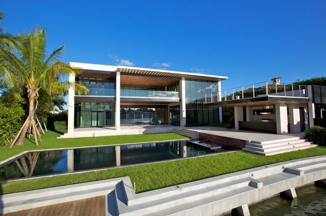 235 Million Newly Built Modern Waterfront Mansion In Miami Beach FL  Homes of the Rich