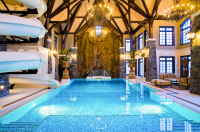 Amazing 3-Story Indoor Swimming Pool With Water Slide ...