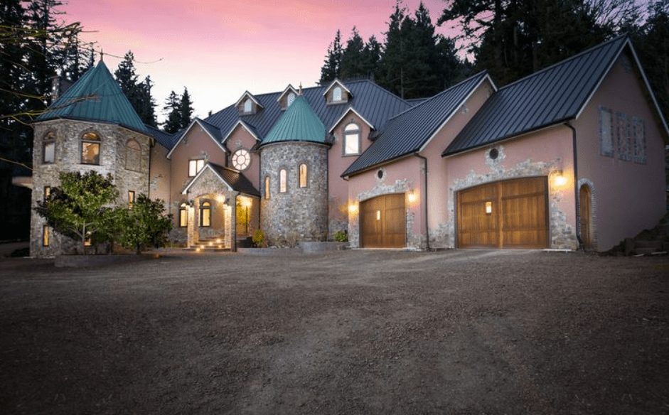 Blackberry Castle  A 10000 Square Foot Newly Built Mansion In Portland OR  Homes of the Rich