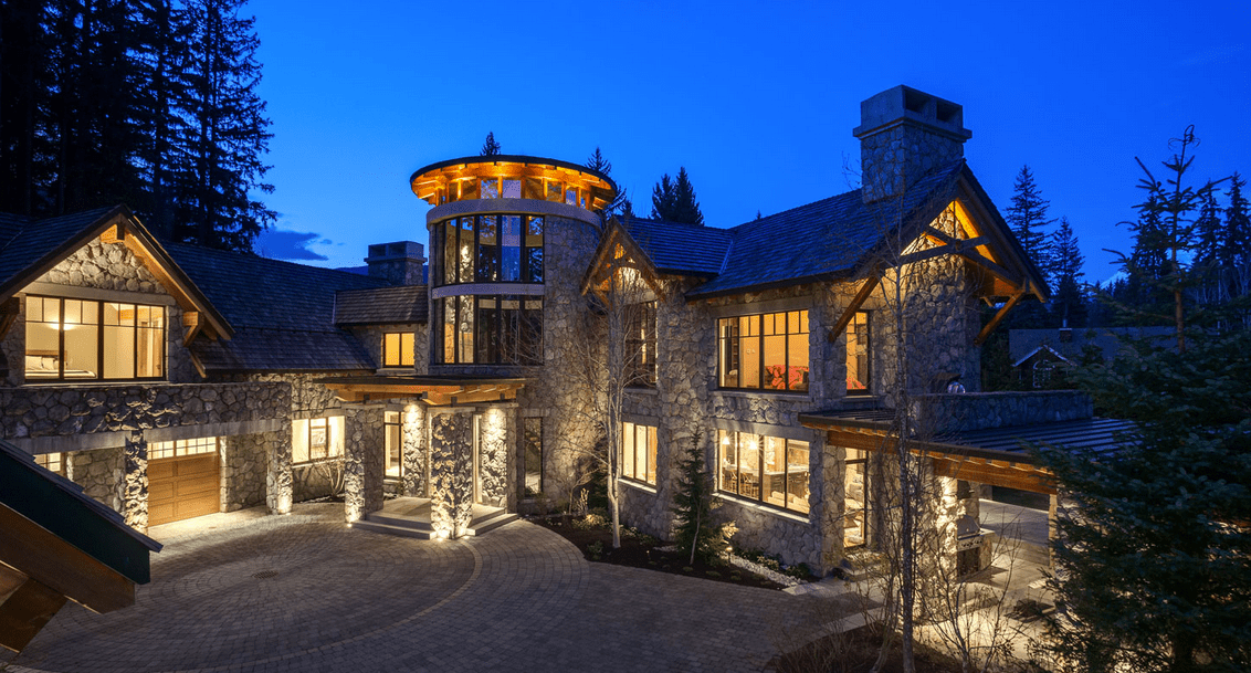 22 Million Mountaintop Stone Mansion In Whistler Canada
