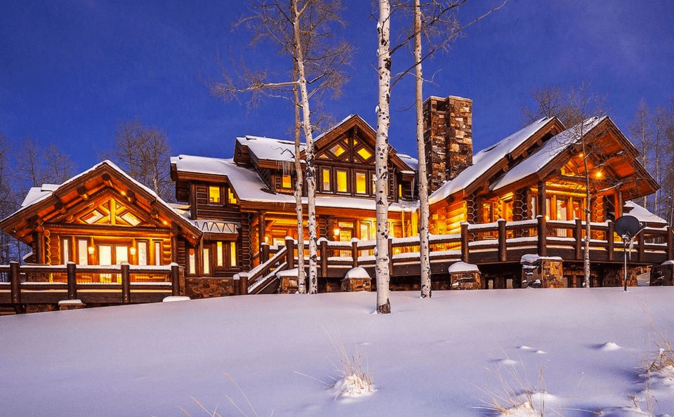 7895 Million Log Mansion On 160 Acres In Kamas UT  Homes of the Rich