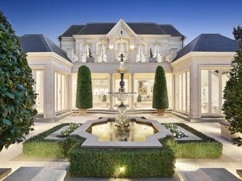 French Chateau Inspired Limestone Home In Victoria