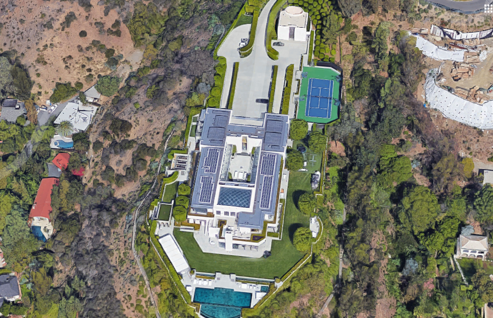 55000 Square Foot Modern Mega Estate In Beverly Hills CA
