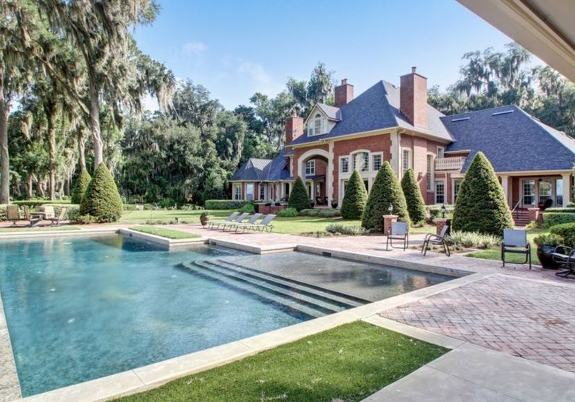 11 000 Square Foot Riverfront Brick Mansion In