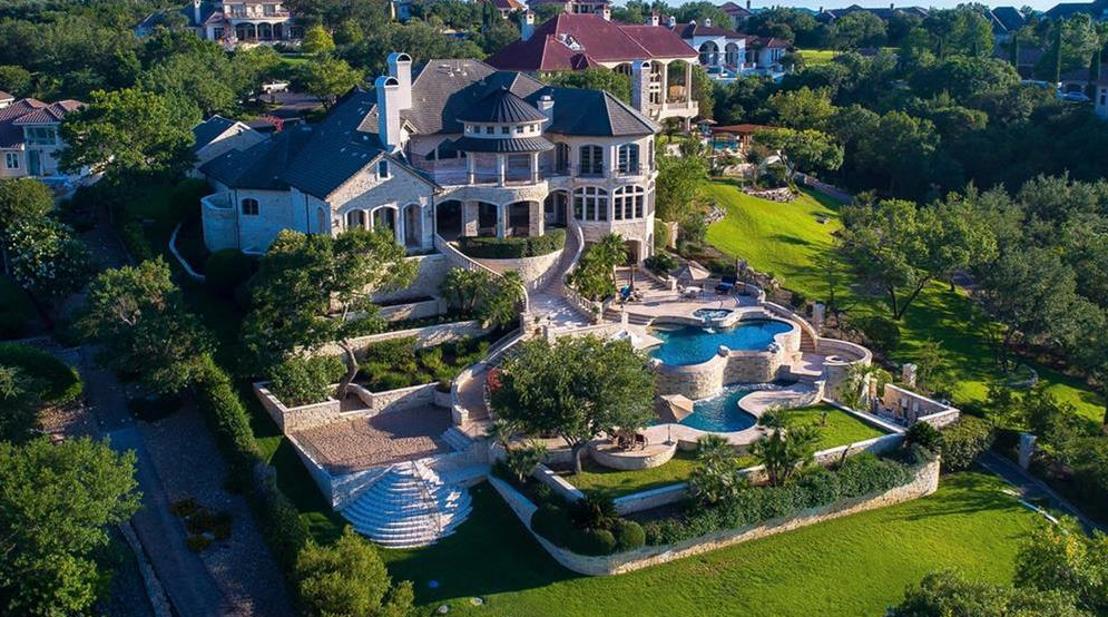 13,000 Square Foot Lakefront Mansion In Austin, TX