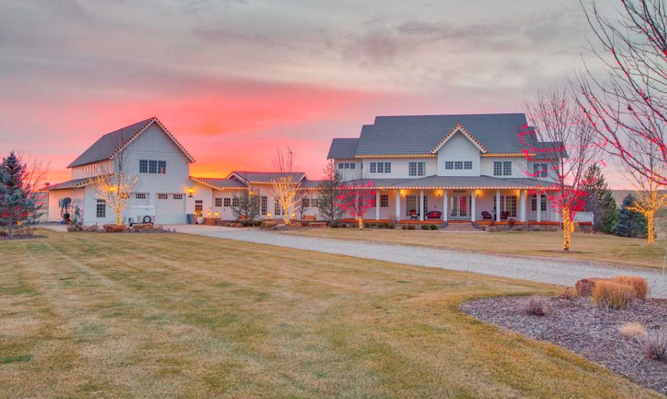 Colonial Style Home On 10 Acres In Eagle Idaho  Homes of