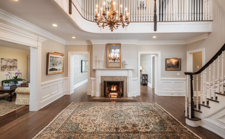 Georgian Colonial Style Mansion In New Canaan Connecticut Homes Of The Rich