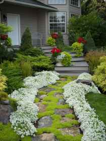Affordable front yard walkway landscaping ideas (12)