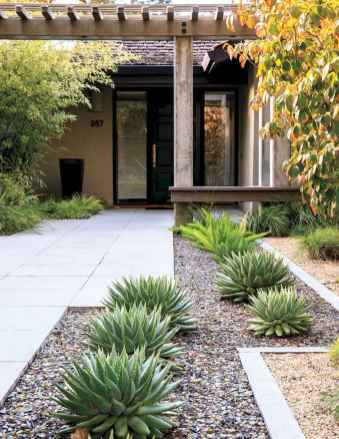 Affordable front yard walkway landscaping ideas (20)