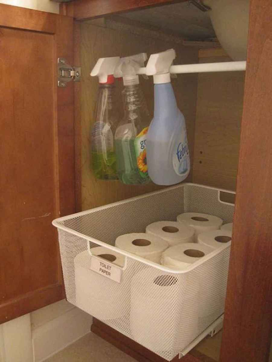 Clever organizing ideas bathroom storage cabinet (42)