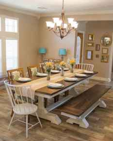 Lasting farmhouse dining room table and decorating ideas (38)