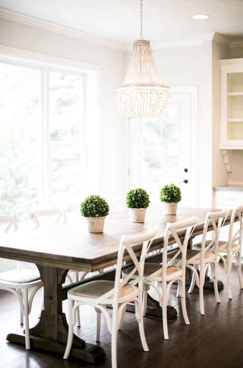 Lasting farmhouse dining room table and decorating ideas (46)