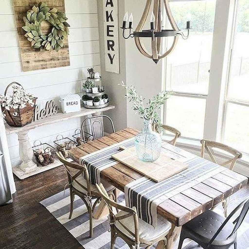 Lasting farmhouse dining room table and decorating ideas (51)