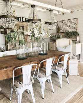 Lasting farmhouse dining room table and decorating ideas (58)
