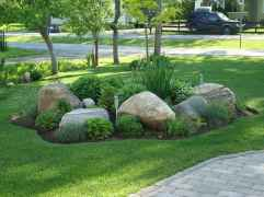Beautiful front yard rock garden landscaping ideas (25)