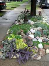 Beautiful front yard rock garden landscaping ideas (63)