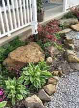 Beautiful front yard rock garden landscaping ideas (64)