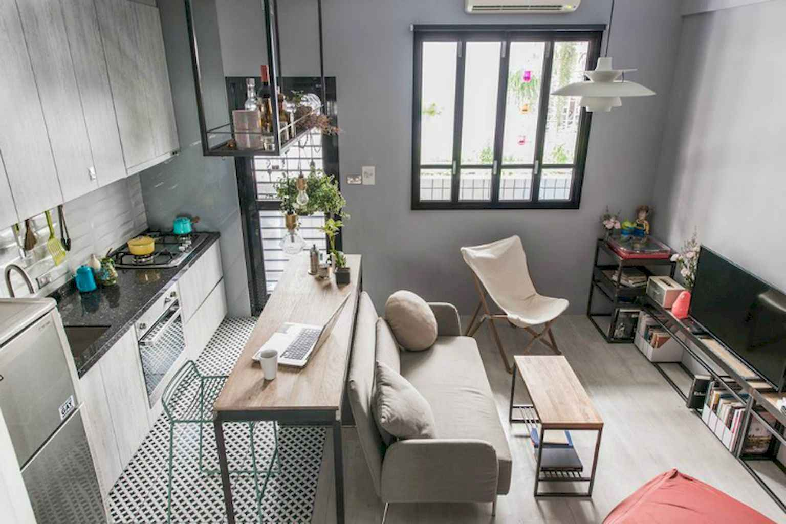 Cool small apartment decorating ideas on a budget (44)