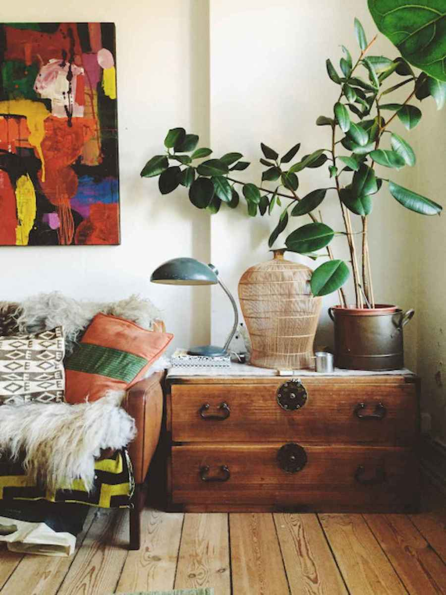 Cozy bohemian style living room decorating ideas (21)
