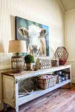 Rustic farmhouse living room design and decor ideas (19)