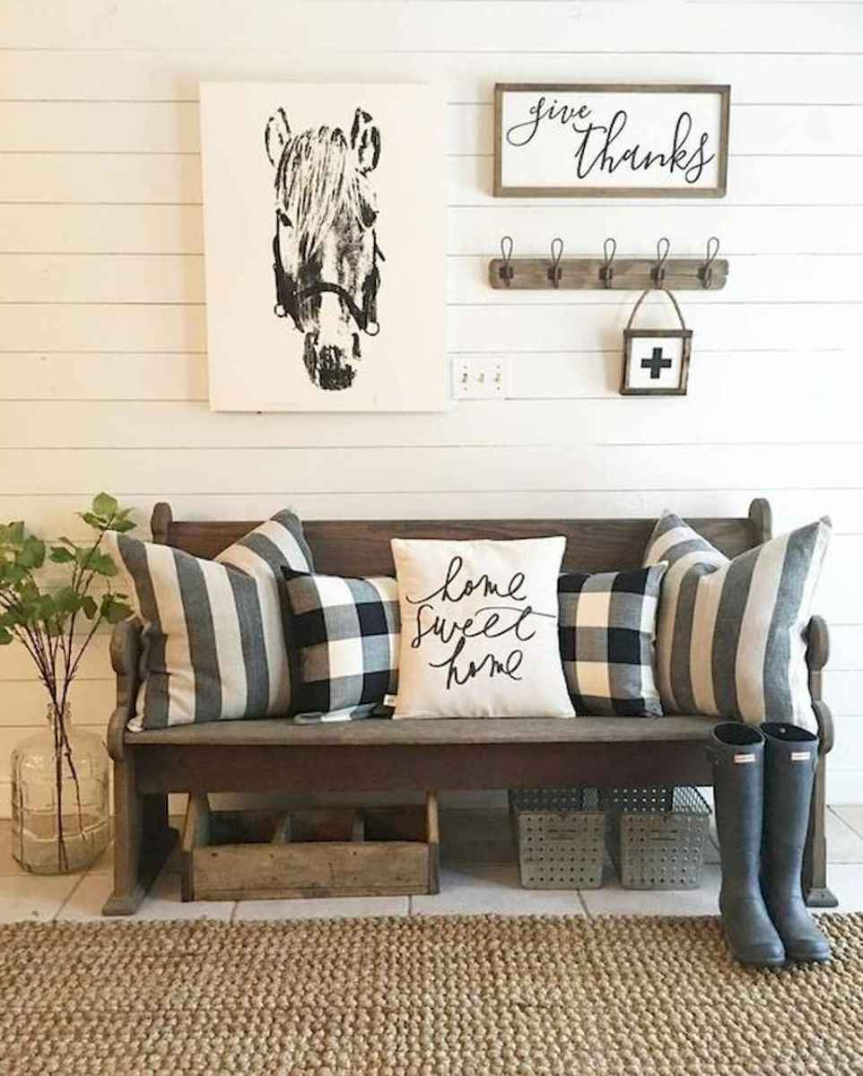 Rustic farmhouse living room design and decor ideas (40)