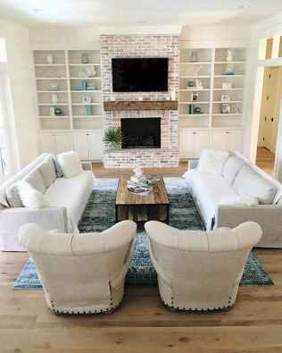 Rustic farmhouse living room design and decor ideas (51)