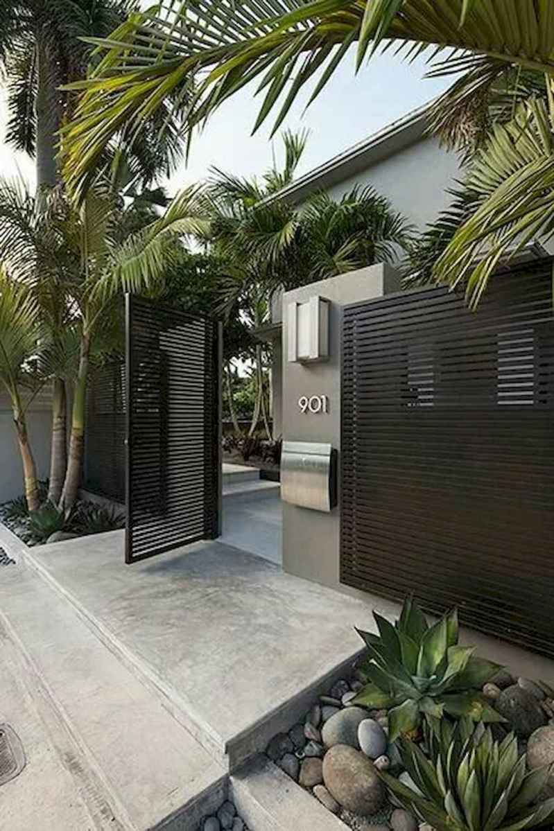 Simple clean modern front yard landscaping ideas (15)