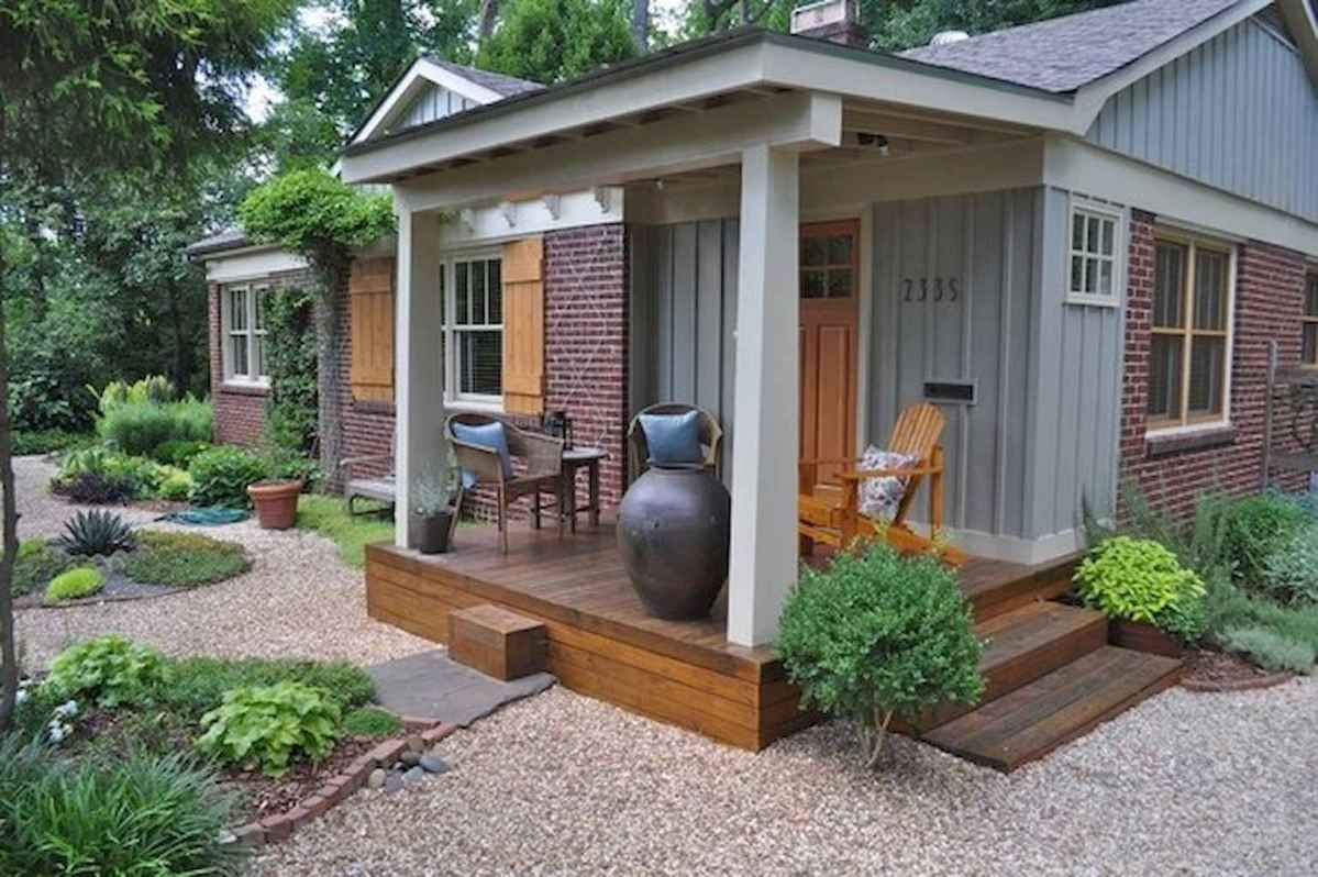 Simple clean modern front yard landscaping ideas (18)