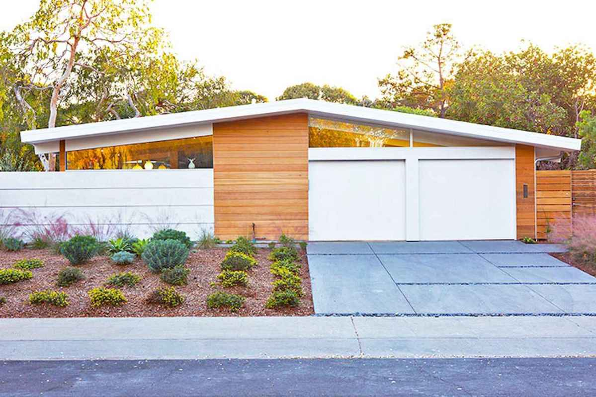 Simple clean modern front yard landscaping ideas (40)