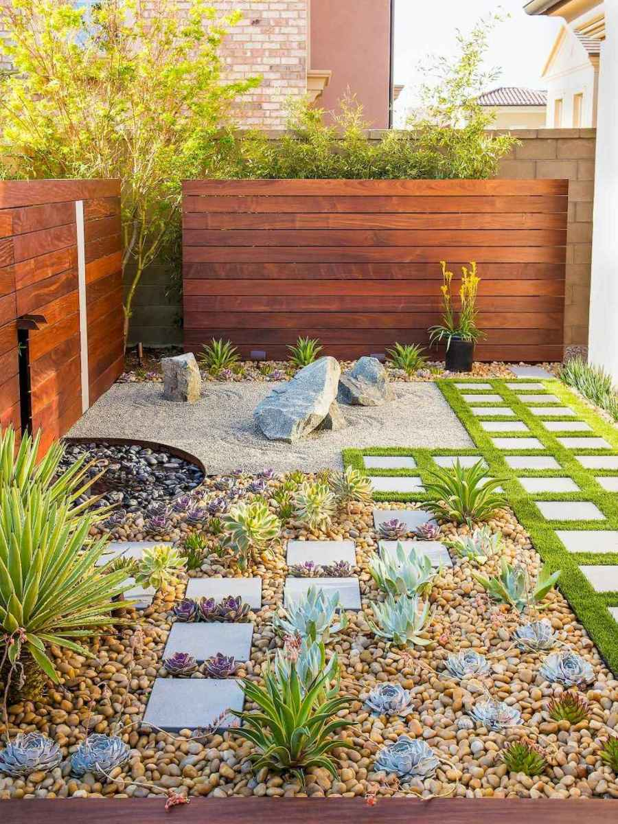 Simple clean modern front yard landscaping ideas (57)