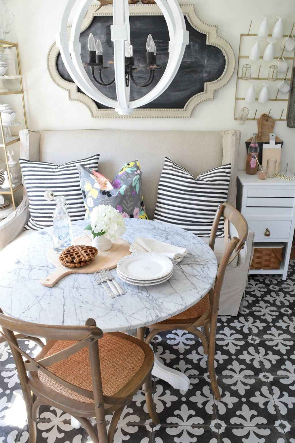 Small dining room table and chair ideas on a budget (11)