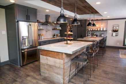 Stylish and inspired farmhouse kitchen island ideas and designs (25)