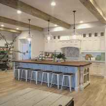 Stylish and inspired farmhouse kitchen island ideas and designs (55)